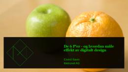 De 6 P'er-og hvordan måle effekt av digitalt design