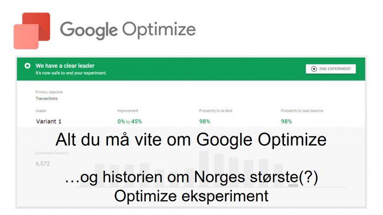 Alt du må vite om Google Optimize